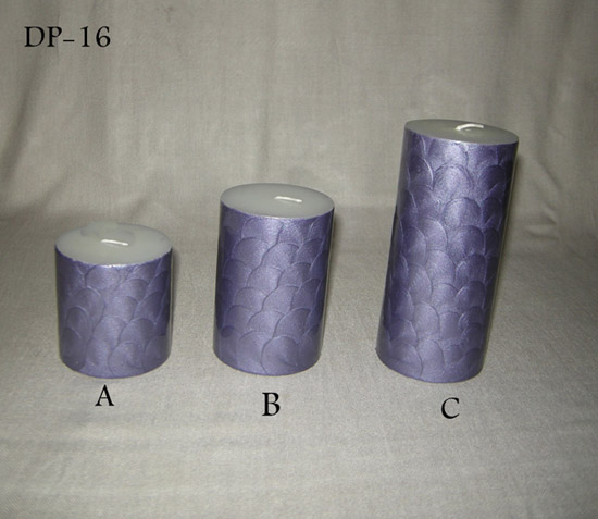 Pillar Candle Resin Finish