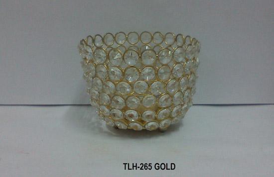 T Light Holder Crystal Bowl