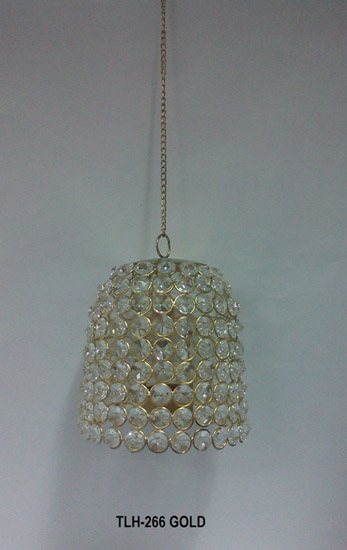 T Light Holder Crystal Hanging