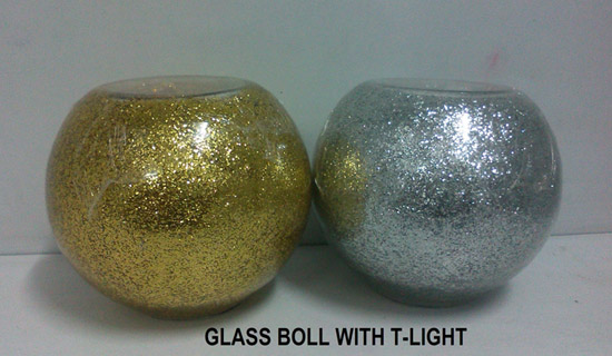 Glass Boll With T-Light